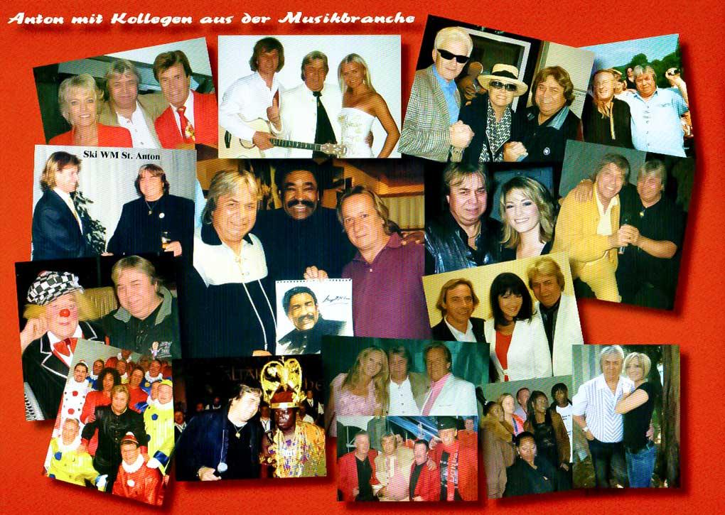 Harry Schagerl mit Freunden aus der Musikbranche.